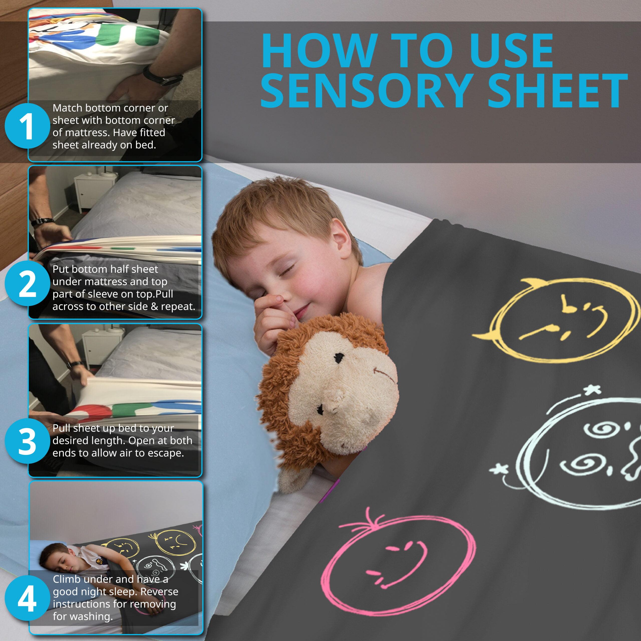 sensory bed sheet
